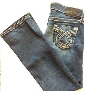 Big Star Liv 27 Dark Wash Distressed Bootcut Jeans